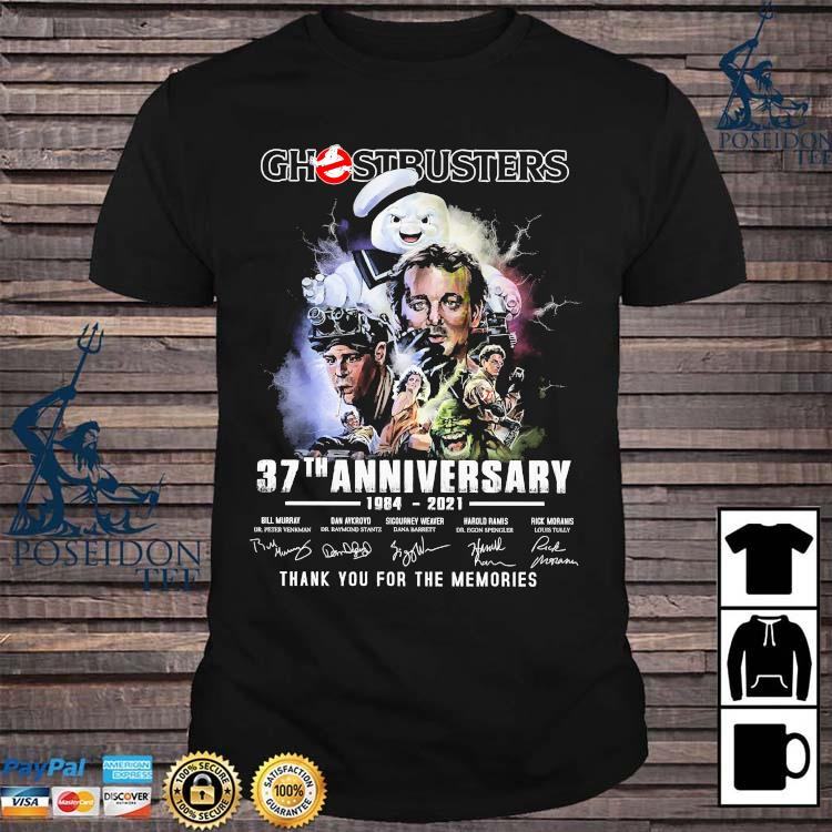 Chestbusters 37th Anniversary 1984 2021 Thank You For The Memories Signatures Shirt