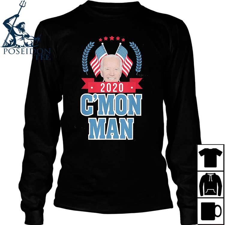 C'mon Man Come On Joe Biden American Flag Shirt Long Sleeved
