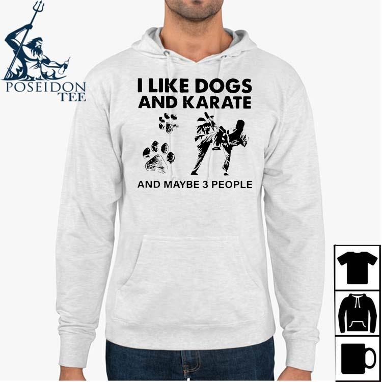 I Like Dogs And Karate And Maybe 3 People Shirt Hoodie