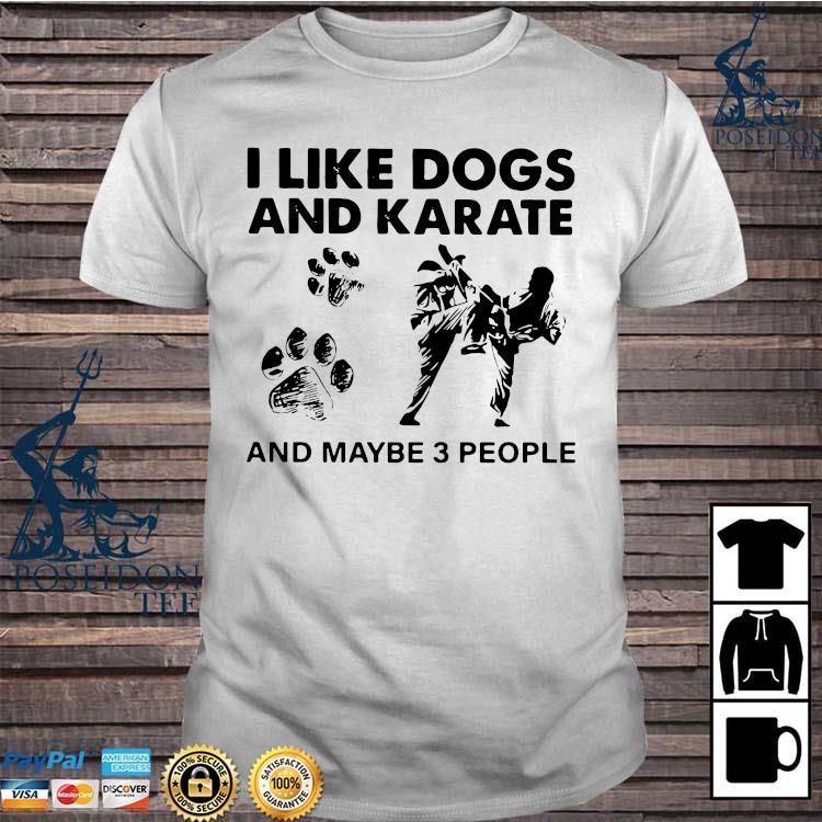 I Like Dogs And Karate And Maybe 3 People Shirt