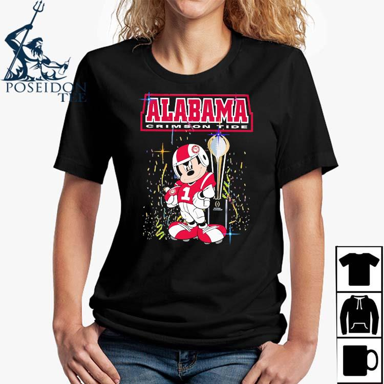 Mickey Mouse Alabama Crimson Tide Shirt Ladies Shirt