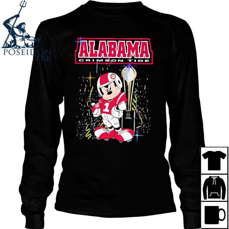Mickey Mouse Alabama Crimson Tide Shirt Long Sleeved