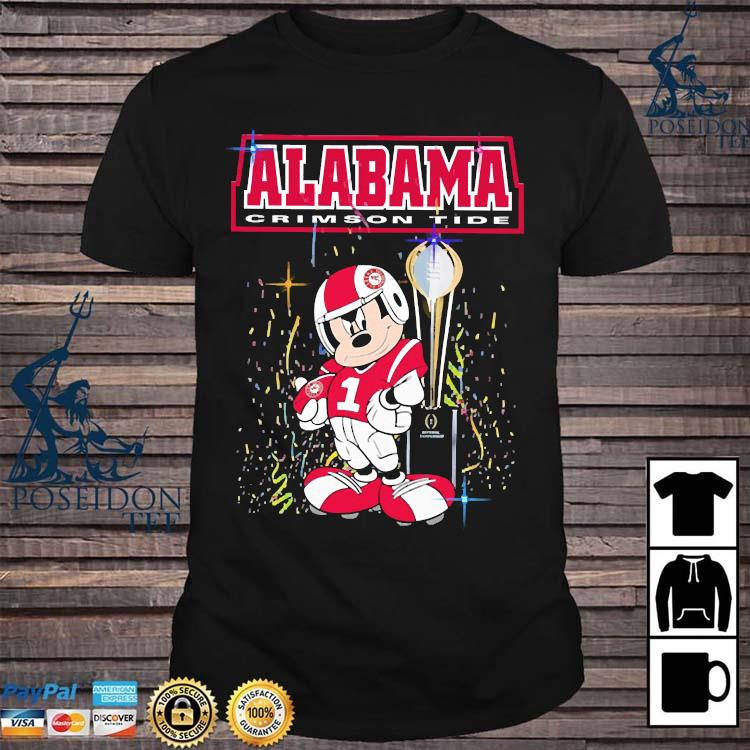 Mickey Mouse Alabama Crimson Tide Shirt