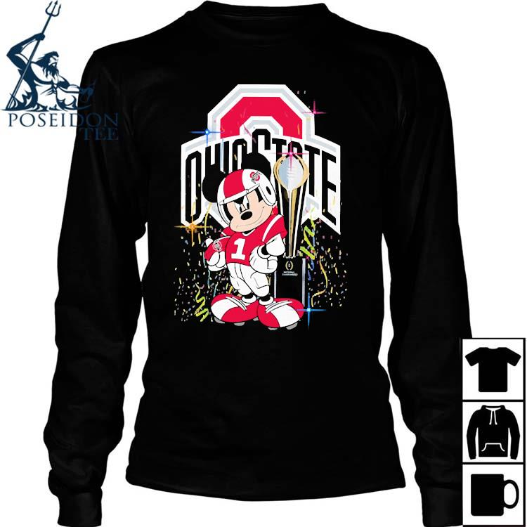 Mickey Mouse Ohio State Buckeyes Shirt Long Sleeved
