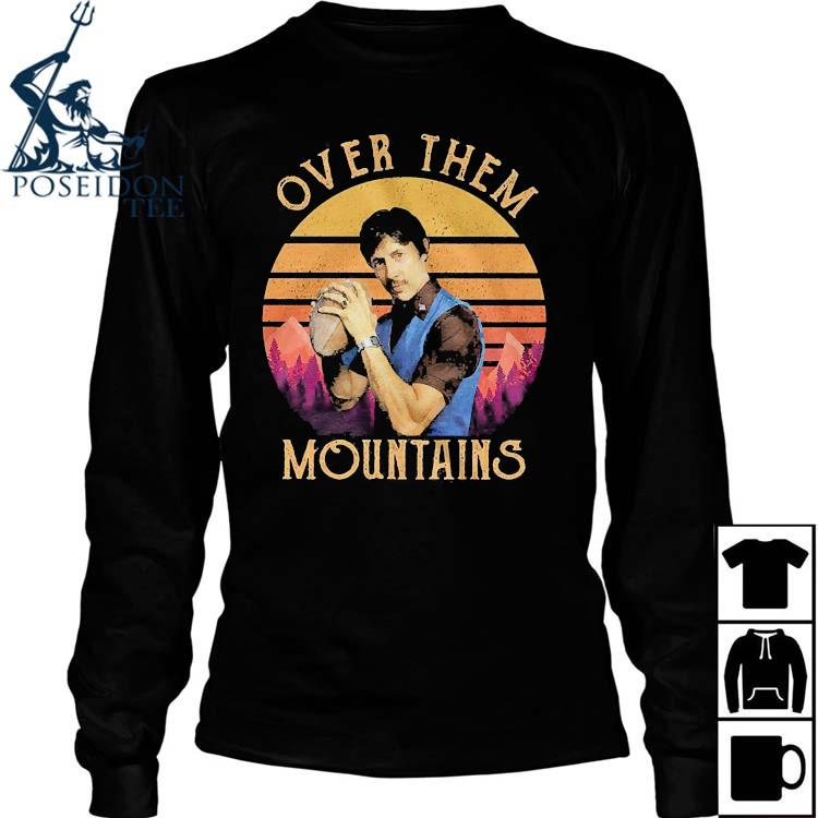 Over Them Mountains Vintage Shirt Long Sleeved